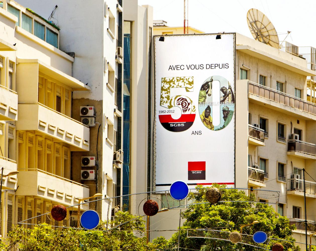 50 years anniversary communication campaign for Societe Generale bank in Senegal